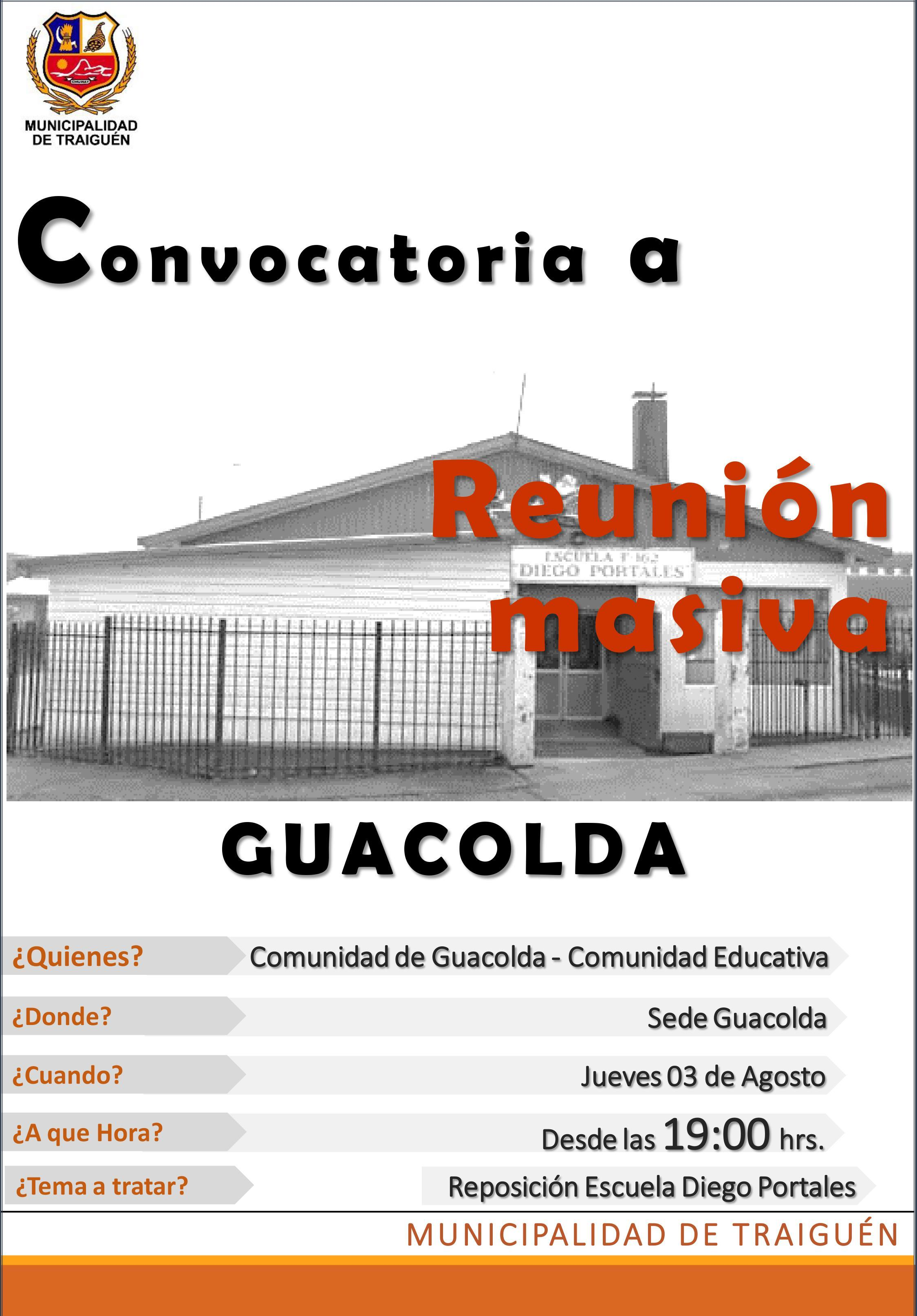 CONVOCATORIA REUNION GUACOLDA